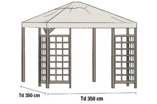 Hov paviljongin katto